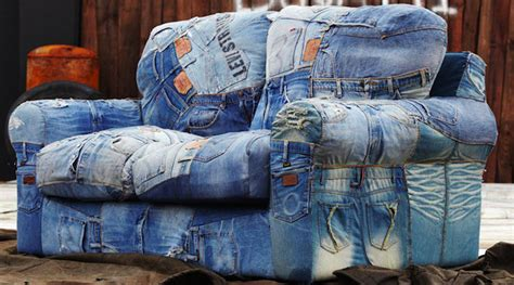 jeans couch recycled denim jeans sofa covers recycled things