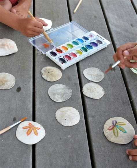 sand craft projects painting sand dollars babyccino daily tips children