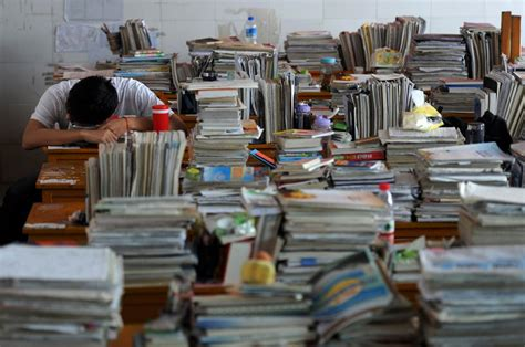 chinese study 24 stunning photos of china s college entrance exams