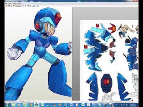 Megaman Papercraft - h豌盻嬾g d蘯ォn r 225 p megaman x papercraft