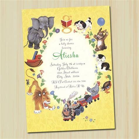 baby shower book invitations golden book baby shower invitation partytimedecor