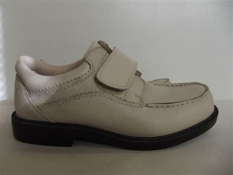 dr scholls mens sz 7m beige pebbled leather casual walking