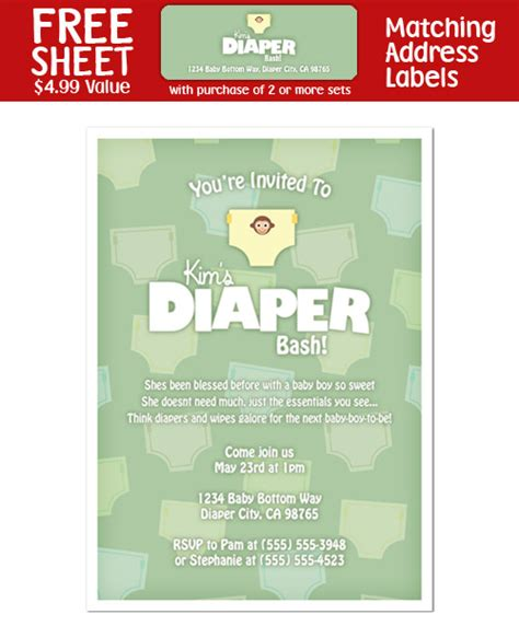 8 diaper party shower invitations ebay