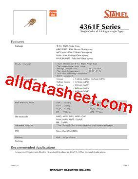 pdt stanley maa4361f datasheet pdf stanley electric co ltd