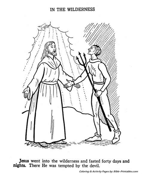coloring pages jesus teaching satan tempts jesus crafts print