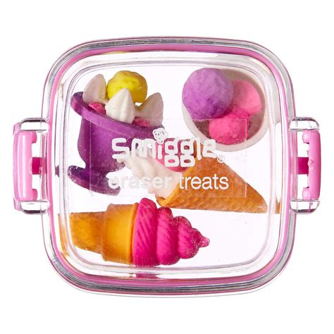 Smiggle Snacks Eraser Pack icecream scented eraser tub smiggle uk aoife stationery