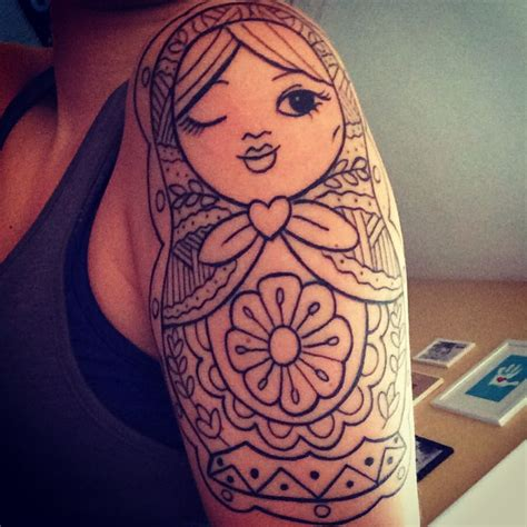 russian nesting doll tattoo russian doll lines half sleeve nesting doll