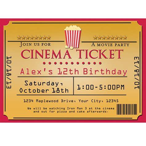 cinema movie theater popcorn ticket birthday party event