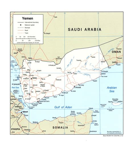 map of yemen cities large detailed political map of yemen with roads