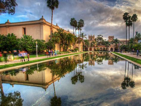 San Diego Pond And Garden by Balboa Park Koi Pond Reflection Hdr San Diego Ca