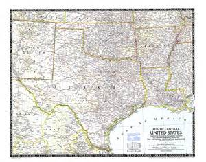south central united states map