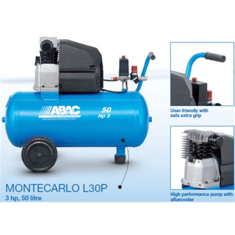 abac l30p monte carlo d4 direct drive 3 hp air compressor 10 cfm air supplies uk