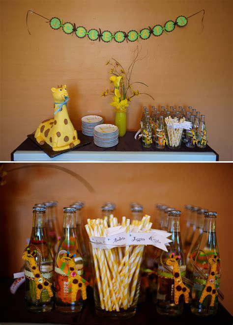 Giraffe Baby Shower Favors by Giraffe Themed Baby Shower The Celebration Society