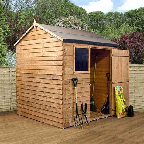 ft garden shed single door reverse apex wooden sheds