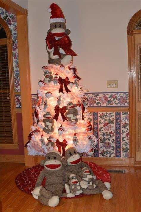 sock monkey christmas monkeys stuff pinterest trees