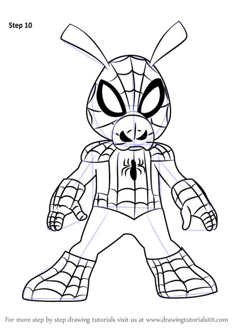 learn to draw marvel s spider learn to draw your favorite spider characters including spider the green goblin the vulture and more licensed learn to draw books learn how to draw spider ham from ultimate spider