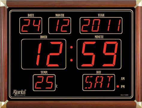 Jm Lu Led Colok ajanta led digital wall clock olc 112 dx