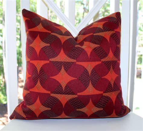 Orange And Purple Pillows by Burgundy Purple Orange Plum Geometric Mod Pillow Cover
