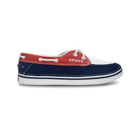 crocs canvas boat shoes crocs hover boat shoe womens oyster scarlet canvas lace