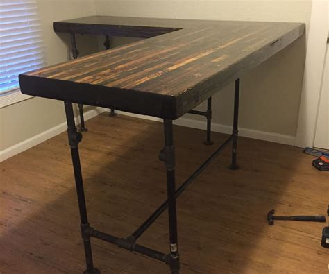 diy custom standing desk plumbing pipe pipes and desks