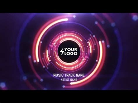 Audio React Tunnel Music Visualizer After Effects Adobe After Effects Visualizer Template