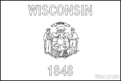 Wisconsin State Flag Coloring Page wisconsin state flag coloring pages usa for