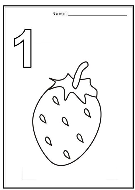 coloring pages for the number 1 free coloring pages of number 1 with fruit matematica