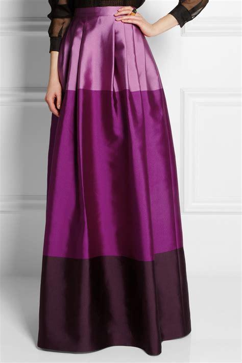 temperley freesia satin twill maxi skirt in