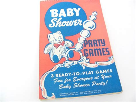vintage baby shower game book 1940 s baby shower party