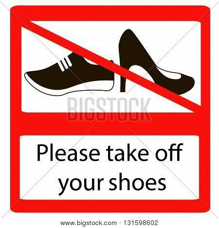 no slippers allowed sign take shoes signs no vector photo bigstock