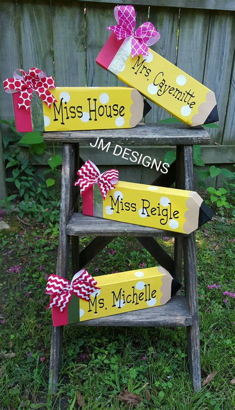 personalized teacher desk name plate personalized giant pencil teacher desk name plate by