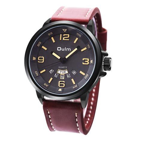 Jam Tangan Dw Brown 1 oulm jam tangan analog hp9028 black brown jakartanotebook