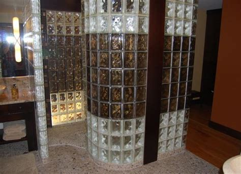 glass block bathroom shower ideas custom glass block shower designs add beautiful curves to