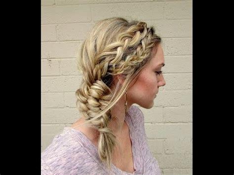 how to dutch fishtail braid elsa hair youtube how to fishtail dutch braid into a three strand fishtail