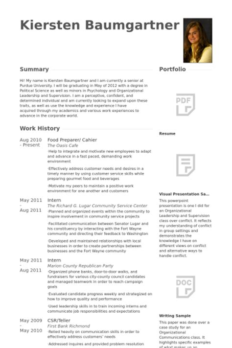 Food Prep Resume by Food Prep Resume Sles Visualcv Resume Sles Database