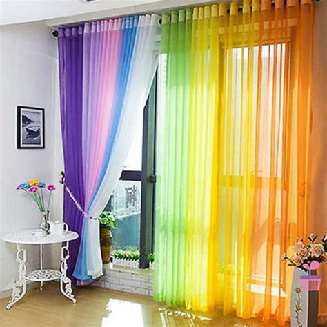 Karma Living Curtains Decorating Solid Modern Style Curtains For Living Room Divider Yarn String Curtain Drape Decor