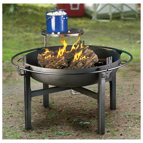 Firepit And Grill Cowboy Pit Rotisserie Grill 282386 Stoves At Sportsman S Guide