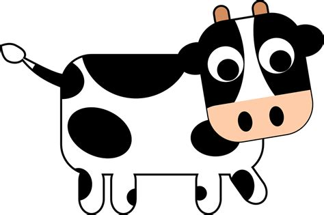cow clipart animal cow 183 free vector graphic on pixabay