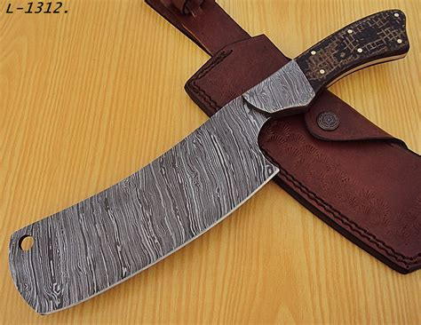 rk l 1312 damascus steel 12 0 inches cleaver knife