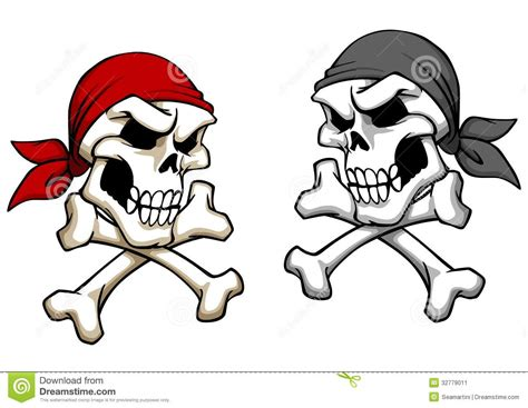 cartoon skull tattoo designs danger pirate skull stock vector illustration of black