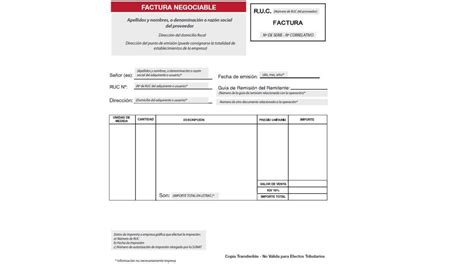 nueva ley de la factura 19983 personas personas sunat conozca los nuevos modelos de facturas negociables