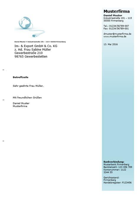 Vorlage Moderner Brief Kostenlose Word Briefkopf Vorlagen Herunterladen
