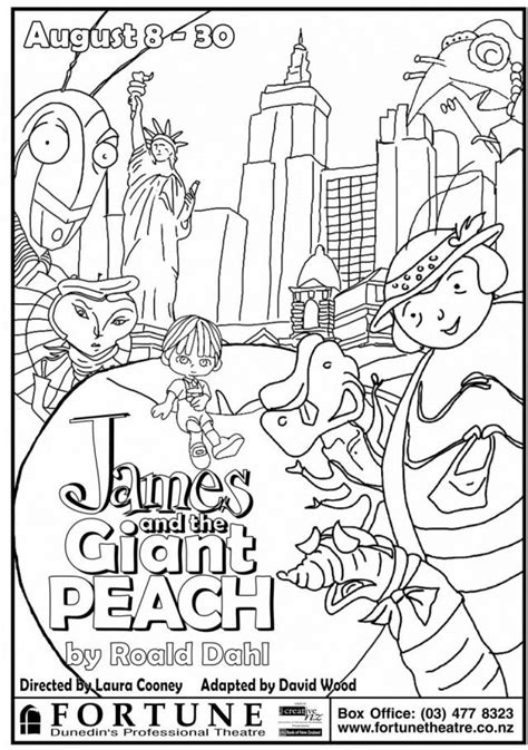 free roald dahl characters coloring pages
