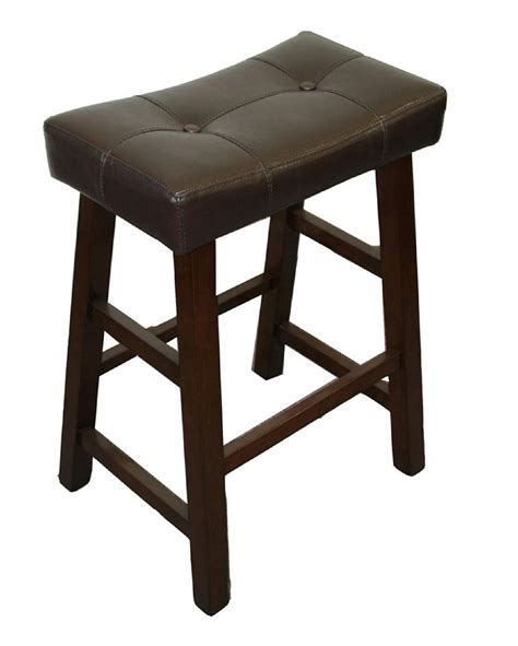 24 Inch Padded Saddle Bar Stools by Tufted Saddle Counter Stool Make A Counter Match