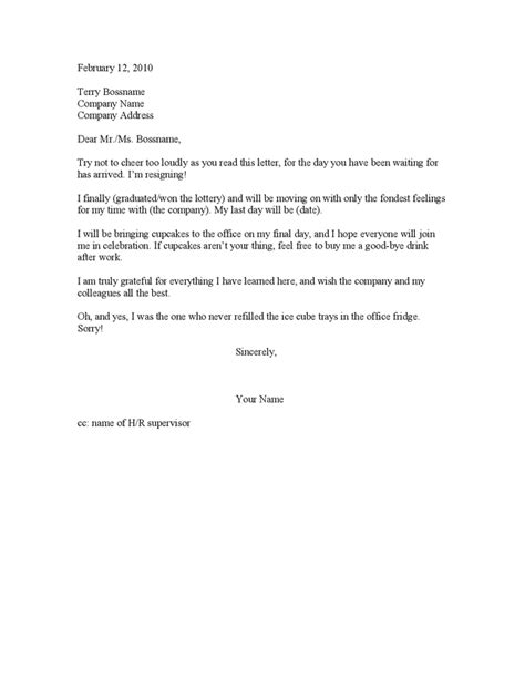 Resignation Letter Upset Joint Custody Agreement Sle Like Success