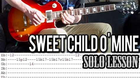 tutorial guitar sweet child o mine guns n roses sweet child o mine solo guitar lesson with