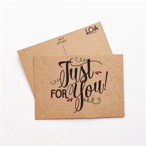 just a just a note just for you gift card by rosie jo s notonthehighstreet