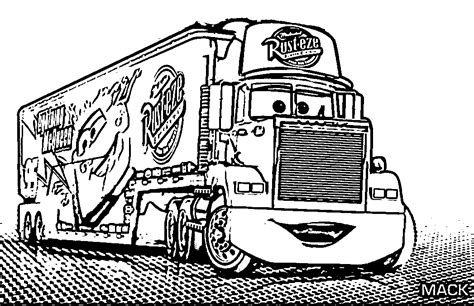 coloring pages cars mack coloring pages all cars 2 coloring home