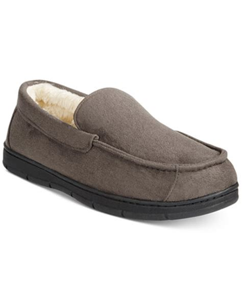 club room slippers club room s faux suede slippers only at macy s all