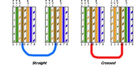network crossover cable wiring diagram image gallery ethernet pinouts
